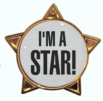 I'M A STAR! titled star badge